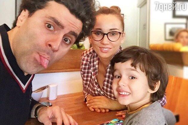 Анфиса Чехова и Гурам Баблишвили с сыном Соломоном
