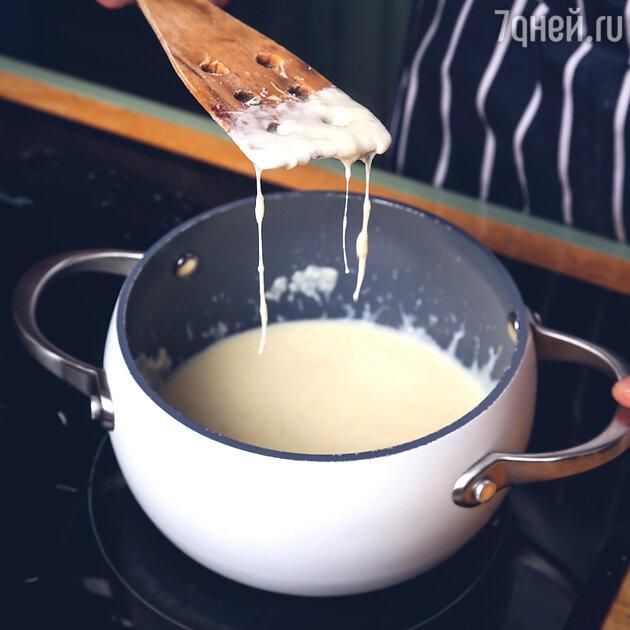 Фарфалле и морской гребешок в сливочно-сырном соусе