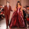 Наоми Кэмпбелл на показе Zac Posen на Неделе моды в Нью-Йорке