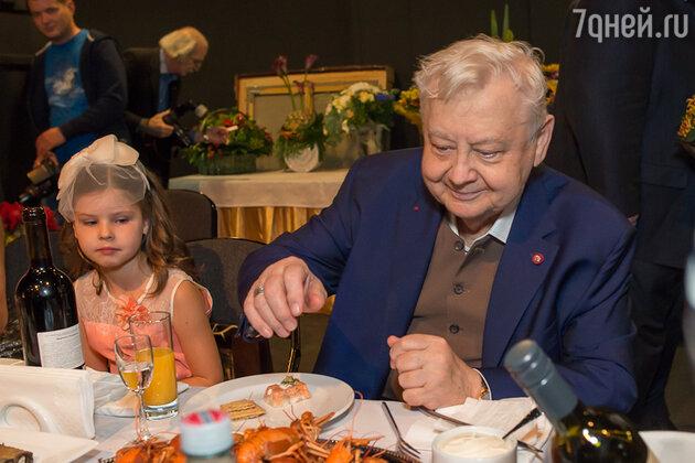 Олег Табаков с дочерью Машей