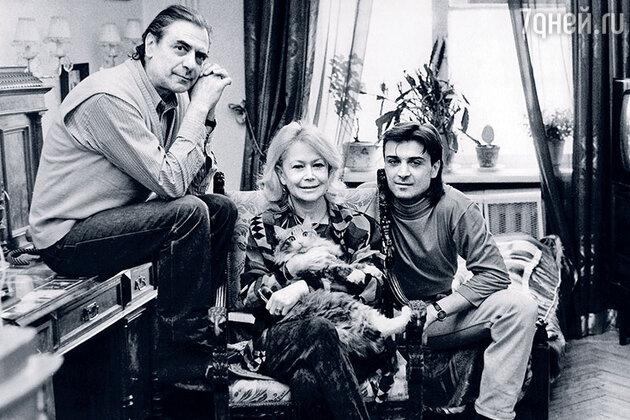 Александр Лазарев, Светлана Немоляева и Александр Лазарев-младший