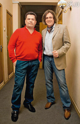 С Николаем Расторгуевым в Театре эстрады. Март 2008 г.