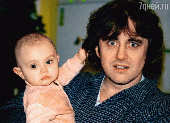 С дочкой Лизой. 2002 г.