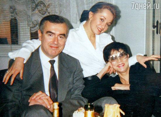 Ольга с отцом Игорем Яковлевичем и мамой Аидой Николаевной