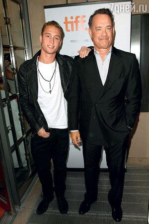 Том Хэнкс с сыном Четом