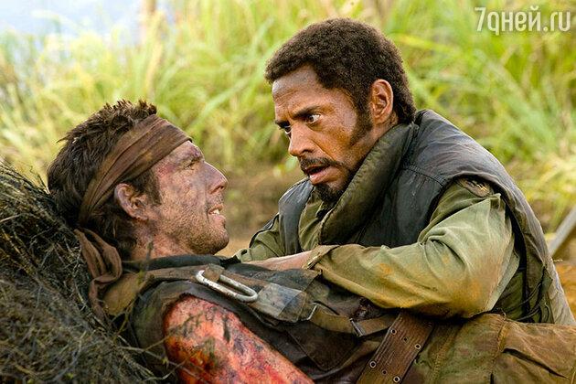 Роберт Дауни-младший и Бен Стиллер в фильме «Солдаты неудачи», 2008 год