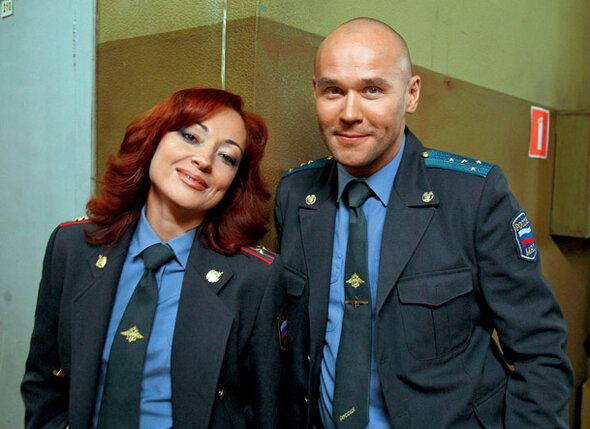 С Максимом Авериным в сериале «Глухарь»