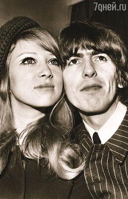 Пэт была сначала женой Харрисона, а потом Клэптона. Самое удивительное, что Эрик фактически увел ее у друга, но Джордж до сих пор не возненавидел его. Джордж Харрисон и Пэтти Бойд, 1966 г.