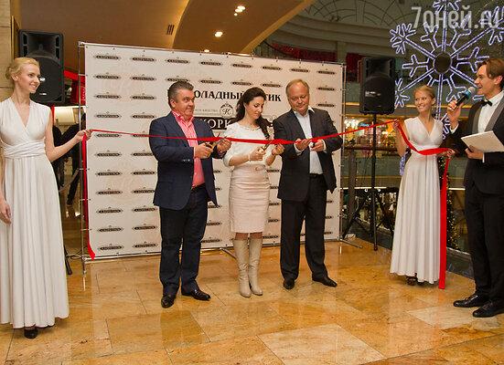 Андрей Коркунов и Петер Кнауэр на открытии первого в России шоколадного бутика нового формата «А.Коркунов»