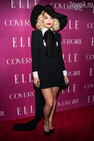 Рита Ора в платье-смокинге от Saint Laurent на церемонии 4th Annual ELLE Women in Music Celebration