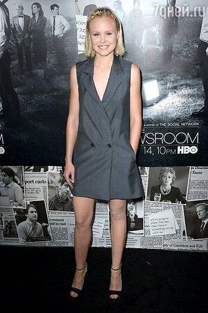 Элисон Пилл в платье от Christian Dior на премьере нового сезона телесериала «Новости»