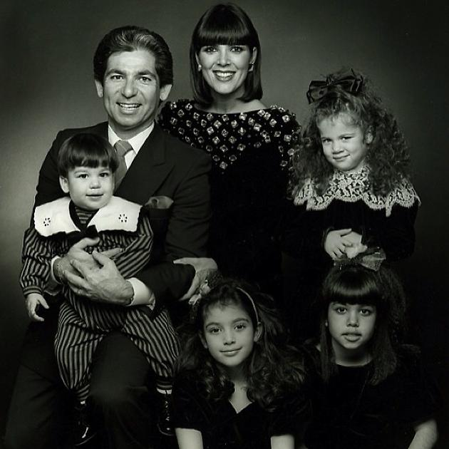 Семейное фото Ким Кардашьян из личного архива