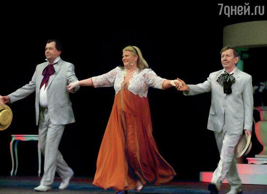 С Ирой Муравьевой играли спектакль «Жена-интриганка» в Сан-Франциско