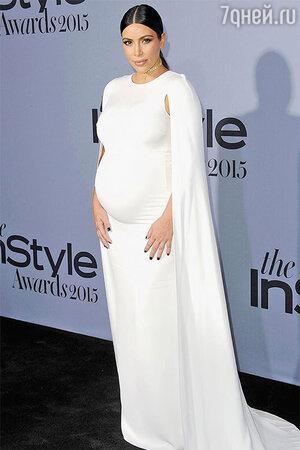 Ким Кардашьян на церемонии вручения премии InStyle Awards 2015