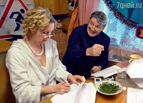 С Александром Абдуловым насъемках сериала «Ледниковый период»