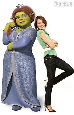 Камерон Диаз озвучивала принцессу Фиону в мультифильме «Шрек»