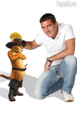 Антонио Бандерас вжился в роль Кота в сапогах