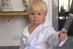 Полуторагодовалый сын Рудковской снялся в рекламе зубной пасты