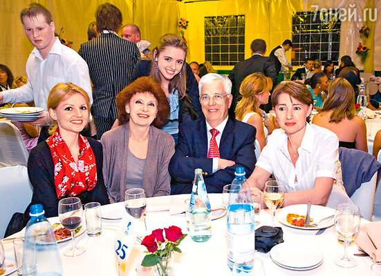 Раймонд Паулс, его жена Лана, дочь Анете, внучки Моника-Ивон и Анна-Мария