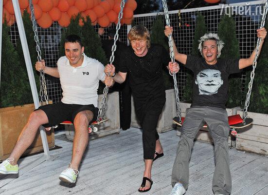 Группа «Иванушки International»: Кирилл Андреев,  Андрей Григорьев-Апполонов и Олег Яковлев