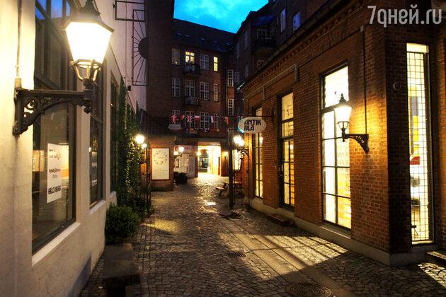 Улица с магазинами в Оденсе
