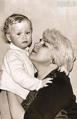 Я с внуком Сережей