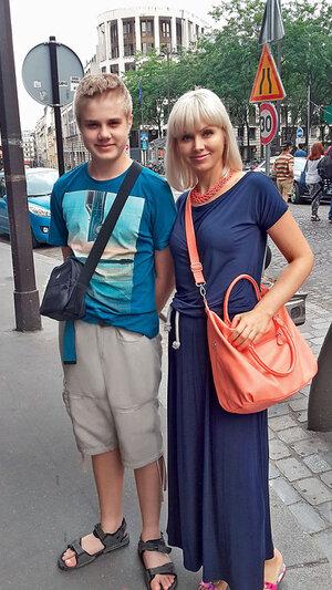 Натали с сыном