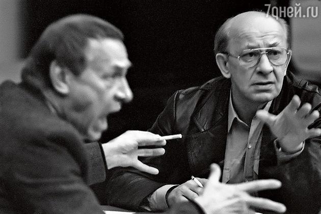 Олег Ефремов и Евгений Евстигнеев