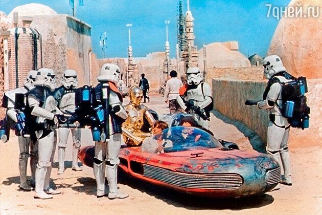 Марк Хэмилл на съемках «Звездных войн»