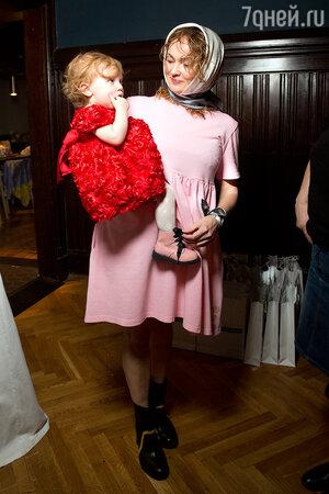 Анастасия Бусыгина с дочерью Марфой