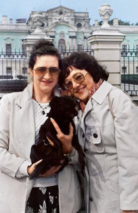 С Аллой Николаевной и моей собакой Лариской в Киеве