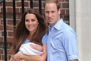 Кейт Миддлтон и принц Уильям впервые показали сына