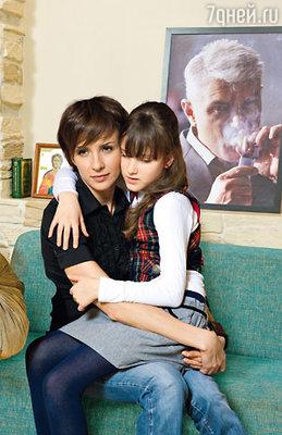 С дочкой Ксюшей