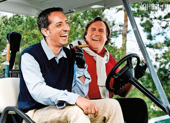 Случившаяся любовь с аристократкой повлияла на ход судьбы Гада — он стал востребован в кино. С Жераром Депардье в «Оле!», 2005 год