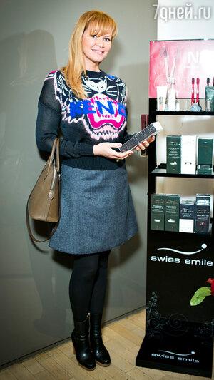 Екатерина Лиепа на бранче известного швейцарского косметического бренда