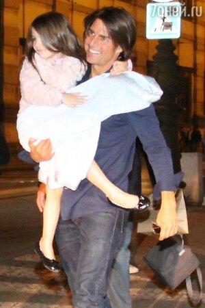 Том Круз (Tom Cruise) и его дочь Сури