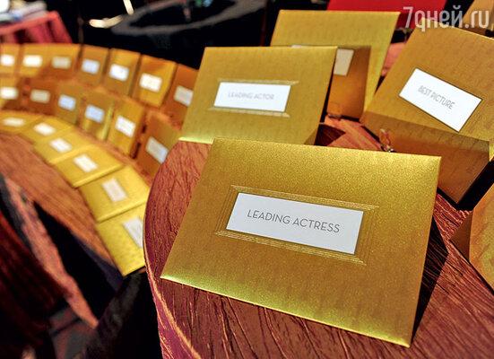 Заветные конверты с именами победителей для церемонии 2014 года