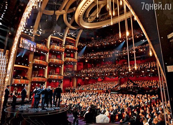 Роскошный зал кинотеатра «Dolby Theatre Hollywood», вкотором проходят церемонии вручения призов Американской киноакадемии