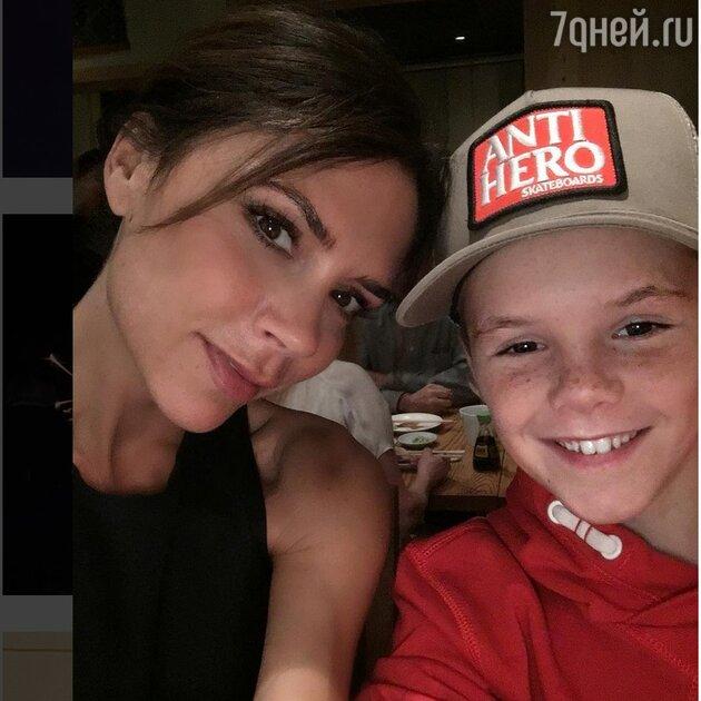 Виктория Бекхэм с сыном Крузом