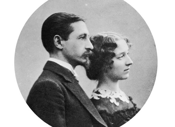 Иван Бунин с женой  Верой Николаевной, урожд. Муромцевой