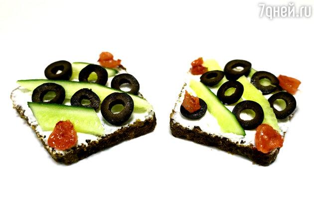 Бутерброды с сыром, огурцами и маслинами: рецепт для пикника