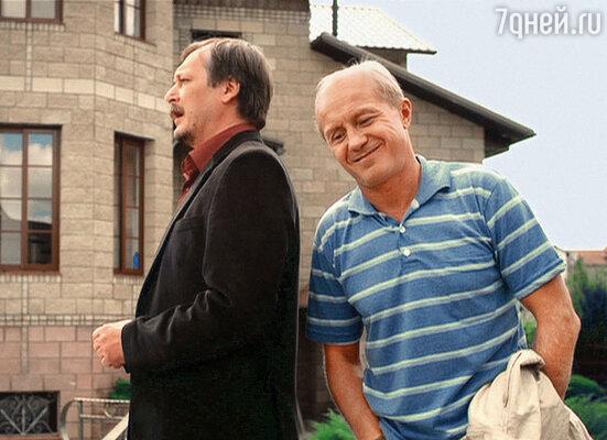 Панин и Ветров на съемках телесериала «Журов»
