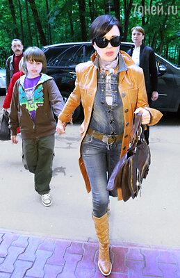 Анастасия Заворотнюк с сыном