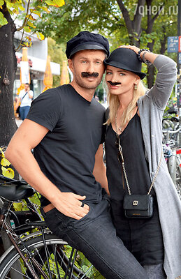 Евгений Левченко и Олеся Ермакова во время веселого уик-энда в Берлине