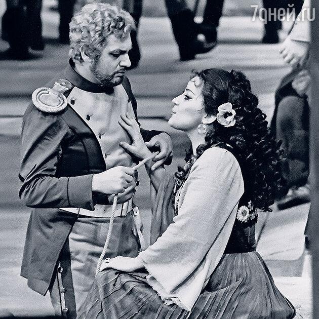 Елена Образцова с Пласидо Доминго. Вена, 1978 год
