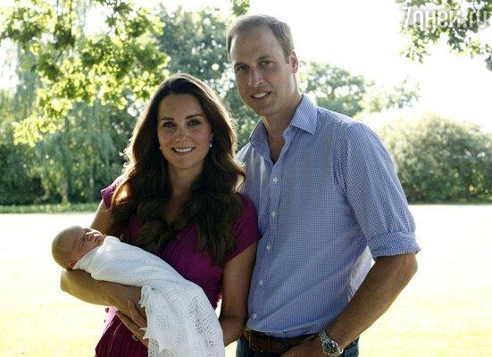 Принц Уильям и Кейт Миддлтон с сыном принцем Кембриджским Георгом