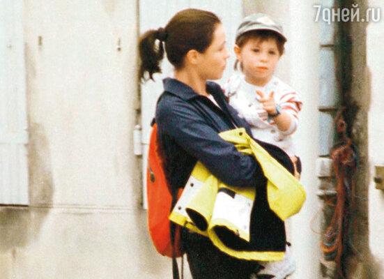 С сыном Йоханом. 1999 г.