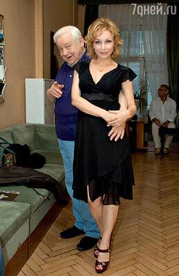 Худрук «Табакерки» Олег Табаков с женой Мариной Зудиной