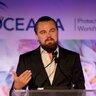 17 августа 2014 года. Лео на мероприятии Oceana SeaChange в Лагуна Бич.