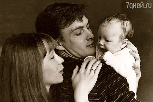 Марина Левтова и Юрий Мороз с дочерью